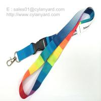 Custom sublimated full color lanyards
