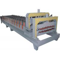 Wholesale Roofing Sheet Double Layer Roll Forming Machine With Galvanized Steel And PPGI from china suppliers