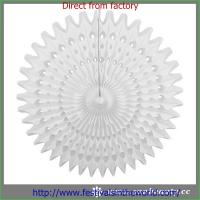 Buy cheap white paper fans home decoration from wholesalers