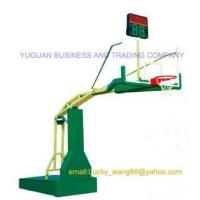 hot sale electrical hydraulic basketball stand FIBA certification -indoor type