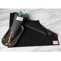 Black In Stock Wool Cashmere Coating FabricFor Women Above Knee Skirt