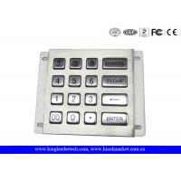 Wholesale 16 Long Travel Button Metal Numerical Keypad Rugged For Industrial from china suppliers