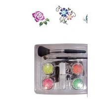 Wholesale Fluorescence Body Painting Glitter Tattoo Kit with 4 Colors Tattoo Pigment Powder from china suppliers