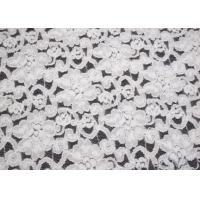 Elegant Ivory Brushed Water Soluble Lace Fabric For Dress Eco Friendly CY-LQ0042