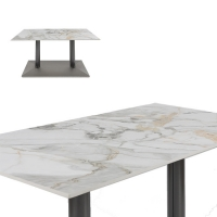 Wholesale Luxury Square OEM Marble Pedestal Dining Table from china suppliers
