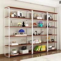 Wholesale Double-Sided Steel-Wood Bookshelf for Library/Book Shelf/Office Furniture/Booksh Shelf for Clothing/Shoes/Jewelry/Watch from china suppliers