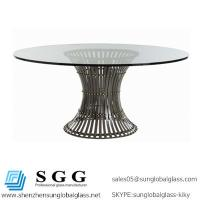 China Excellence quality 8mm,10mm clear tempered glass top table on sale