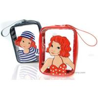 China Summer PVC clear cosmetic bag , PVC travel cosmetic bag for girl on sale
