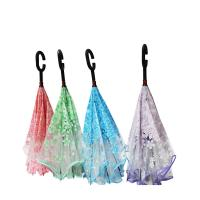 Wholesale Wind Revisalbe  See Through Umbrella Clear umbrella from china suppliers