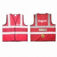 Wholesale Safety Vests, EN471/EN343 Standard, Made of 100% Polyester Tricot Warp-knitted Fabric from china suppliers