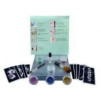 Wholesale 6 Colors Temporary Body Glitter Tattoo Kit with Brushes, Glue, Stencil from china suppliers
