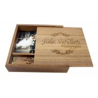 Wholesale Natural Wood 4 * 6 Inches Wooden Photo Boxes For Photographers Square Shape from china suppliers