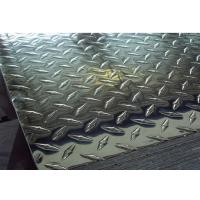China 5052 H32 Aluminium Chequered Plate Coils Slip Resistance For Bus Body on sale