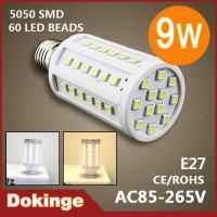 Wholesale 900LM E27 9W 55 LED SMD 5050 Corn Bulb light AC 220V 110V warm white/ cool white Light from china suppliers