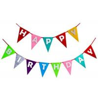 China Decorative Pennant String Flags Eco - Friendly Birthday Theme Colorful For Party on sale