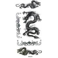 Wholesale Dragon Design body art remove porous glue black temporary tattoo for children Body skin from china suppliers