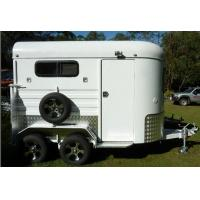 China Custom camping trailers,aluminum trailers for horse,caravan horse float on sale