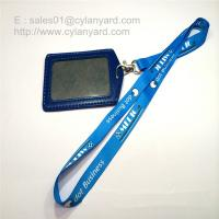 Custom sublimated full color lanyard with leather badge