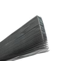 China 8ft 9ft Grey Color Polyester Folding Window Screen Mosquito Pleated Mesh on sale
