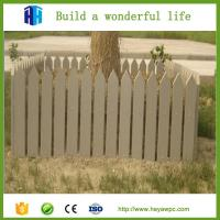 Wholesale 2018 waterproof lightweight garden wpc fencing small garden fence from china suppliers