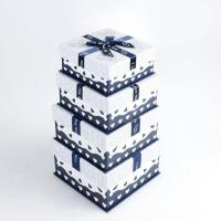 Wholesale Ivory Cardboard Gift Packaging Boxes With Ribbon For Shoes , Pantone Color Hot-Stamping from china suppliers