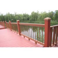 Wholesale Red Outdoor Engineered WPC Deck Waterproof Railing / Corridor from china suppliers