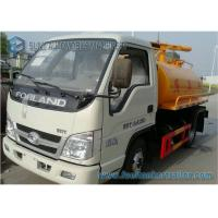 China Foton Forland Vacuum Suction Fecal Tank Sanitation Truck 4x2 2000L on sale