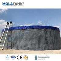 Wholesale Molatank PVC Tarpaulin Flexible Fish Breeding Farming Tank with whole Accessories from china suppliers