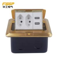 Buy cheap CE Pass Rj45 Floor Socket , Floor Mounted Socket Outlet With USB Charger from wholesalers