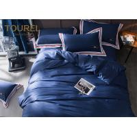 China 100% Stone Washed Hotel Quality Bed Linen soft Linen dyed bedding set Dark Blue on sale