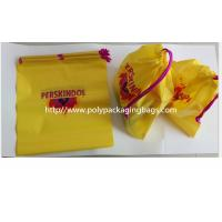 Wholesale Yellow Color Pvc Custom Plastic Drawstring Bags For Cosmetic / Daily Necessities / Clothes from china suppliers