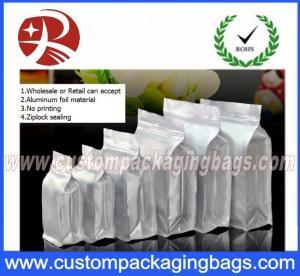 Buy cheap Flat Bottom Ziplock Aluminum Foil Bags For Coffee Bean / Heat Seal Foil Bags from wholesalers