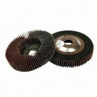 China Abrasive Vertical Flap Discs with Metal Backing, Measuring 100 x 16mm on sale