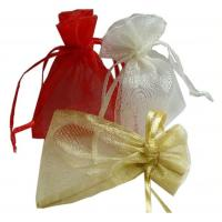 Wholesale Wedding Gift Drawstring Jewelry Pouch ISO9001 Approved Comfortable Organza Bags from china suppliers