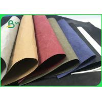 Buy cheap Eco - friendly Brown Black Washable Kraft Paper Roll For Shopping Bags from wholesalers