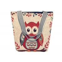 Wholesale Cartoon Owl Print Canvas Shopping Bags Large Capacity For Women from china suppliers