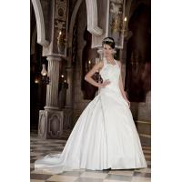 Wholesale Empire Halter Sweetheart Taffeta Wedding Gown Bridal Dress With Applique from china suppliers