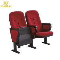 China Cold molded foam 560mm Fabric Folding Auditorium Chairs with Writing Table / PP Sheel Pan on sale