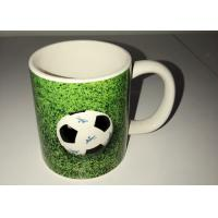 Wholesale Customized Ceramic Novelty Mug 3D Relief Logo Decal Football Mug from china suppliers