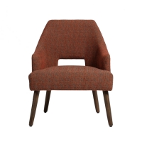 Wholesale Outdoor Nordic Modern Upholstery Relax Leisure Chair Waterproof Fabric Dining Chairs with Wooden Base from china suppliers