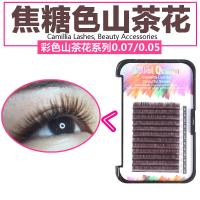 Coffee / Brown Individual Eyelash Extensions , Colored Lash Extensions For Beauty Salon
