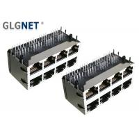 Buy cheap Dip Mounting RJ45 Without Magnetics Shield 2x4 Stacked Copper Alloy Tin Plated from wholesalers