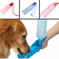 500ml Blue/Red/Pink pet waterer Potable Pet Dog Cat Water Feeding Drink Bottle