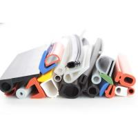 China silicone rubber strip tubing silicone rubber extrusions profiles colorful white red blue green section on sale
