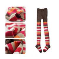 Wholesale Custom Children's Cotton Tights , Warm Brown And White Striped Tights from china suppliers