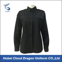 Buy cheap Cotton Polyester Black Custom Military Shirts / Work Shirts Long Sleeve For Women from Wholesalers