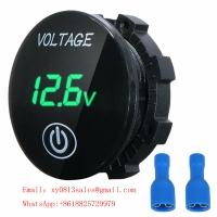 Buy cheap Mini Digital Voltmeter Panel Volt Voltage Meter Tester With Touch ON OFF Switch for Car Motorcycle Boat Marine Car Acces from wholesalers