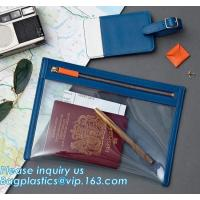 Eco-friendly promotion gifts PVC colorful passport bag,Clear Passport Bag and ID badge holder with neck lanyard bagease
