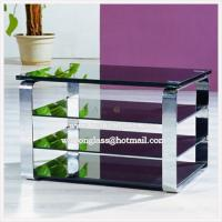 Wholesale Fashion Modern TV Stand/Cabinet with Black Tempered/Toughened Glass from china suppliers