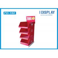 Buy cheap B Flute Portable Cardboard Floor Displays , Cardboard Retail Display Stands For Chocolate from Wholesalers